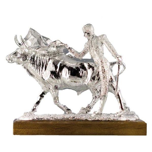Figura torero plateada