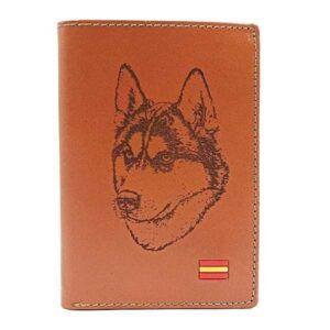 Cartera de piel personalizada con grabado de perro